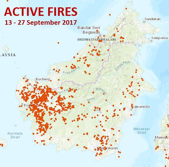 Fire Map Borneo Nature Foundation