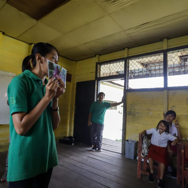 BNF education activities, Mungku Baru Elementary School